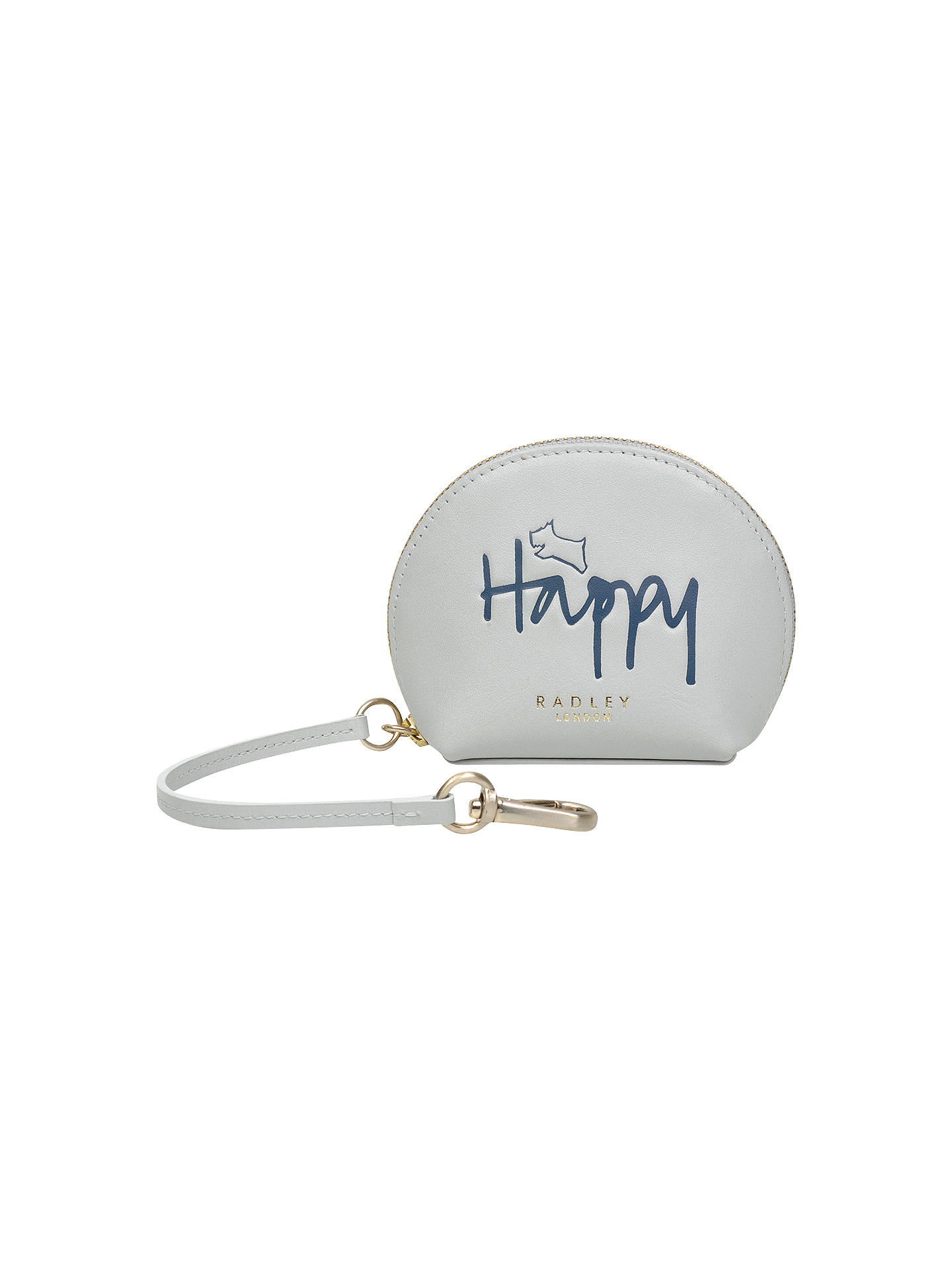 BuyRadley Happy Leather Bag Charm Coin Purse, Pond Online at johnlewis.com