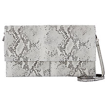 Buy Mint Velvet Lily Leather Clutch, Snake Print Online at johnlewis.com