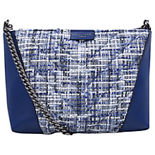 Buy Kurt Geiger South Kensington Tweed Leather Cross Body Bag, Blue Online at johnlewis.com