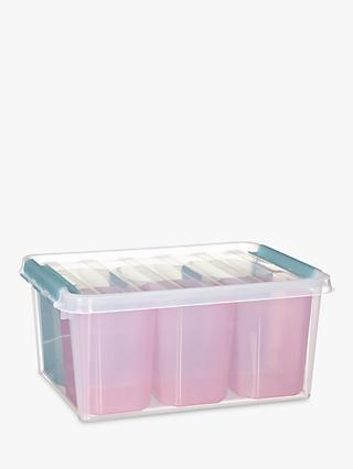 SmartStore by Orthex 15 Plastic Storage Box with 6 Inserts