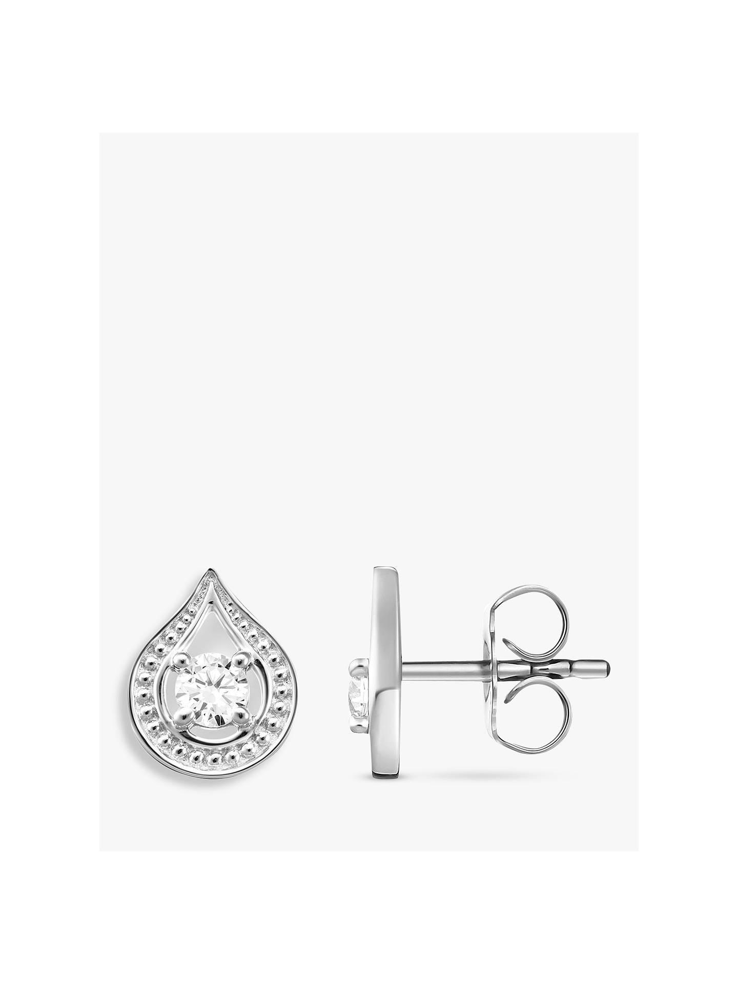 2ebfd49ef Buy THOMAS SABO Glam & Soul Cubic Zirconia Teardrop Stud Earrings, Silver  Online at johnlewis ...