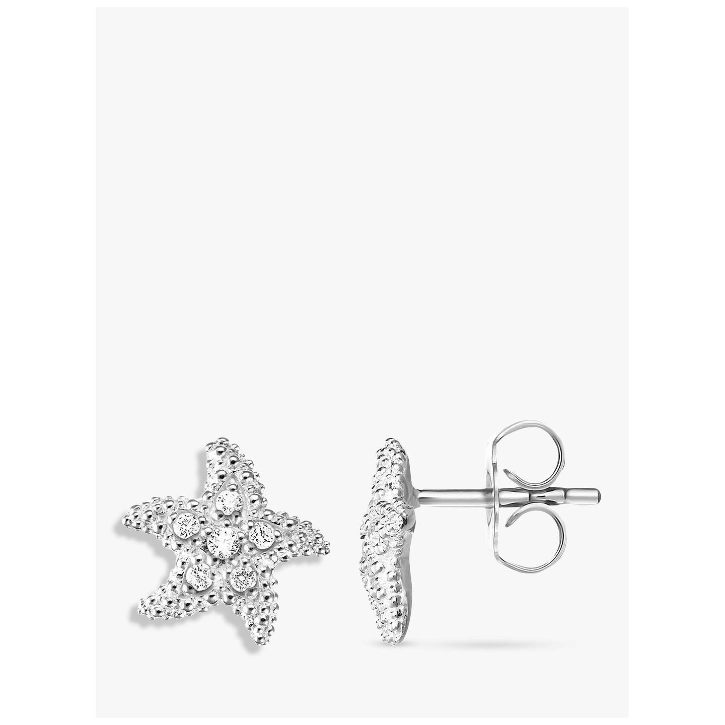 small starfish earrings with star img rhinestones shaped original silver collections products in stud