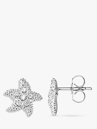 THOMAS SABO Glam & Soul Cubic Zirconia Starfish Stud Earrings, Silver