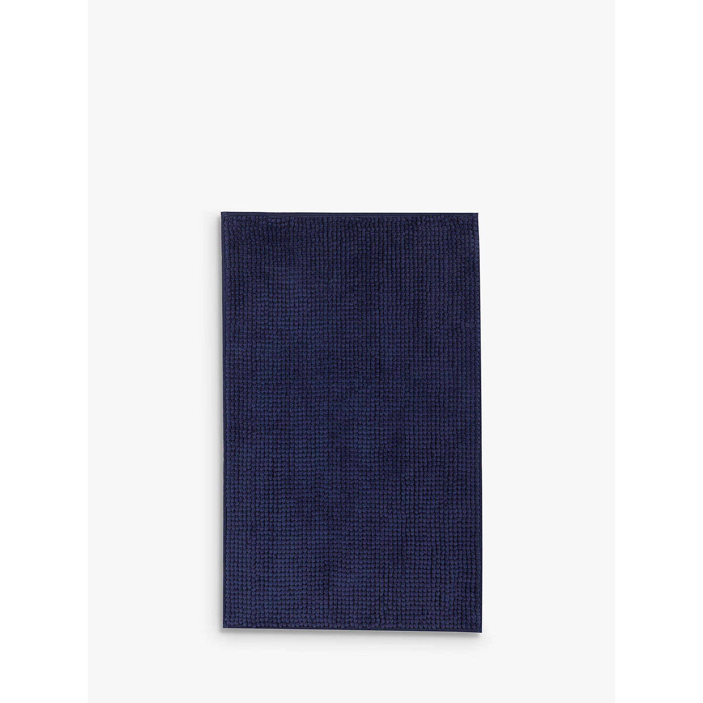 Buyjohn Lewis Chenille Bobble Bath Mat, Navy Online At Johnlewiscom