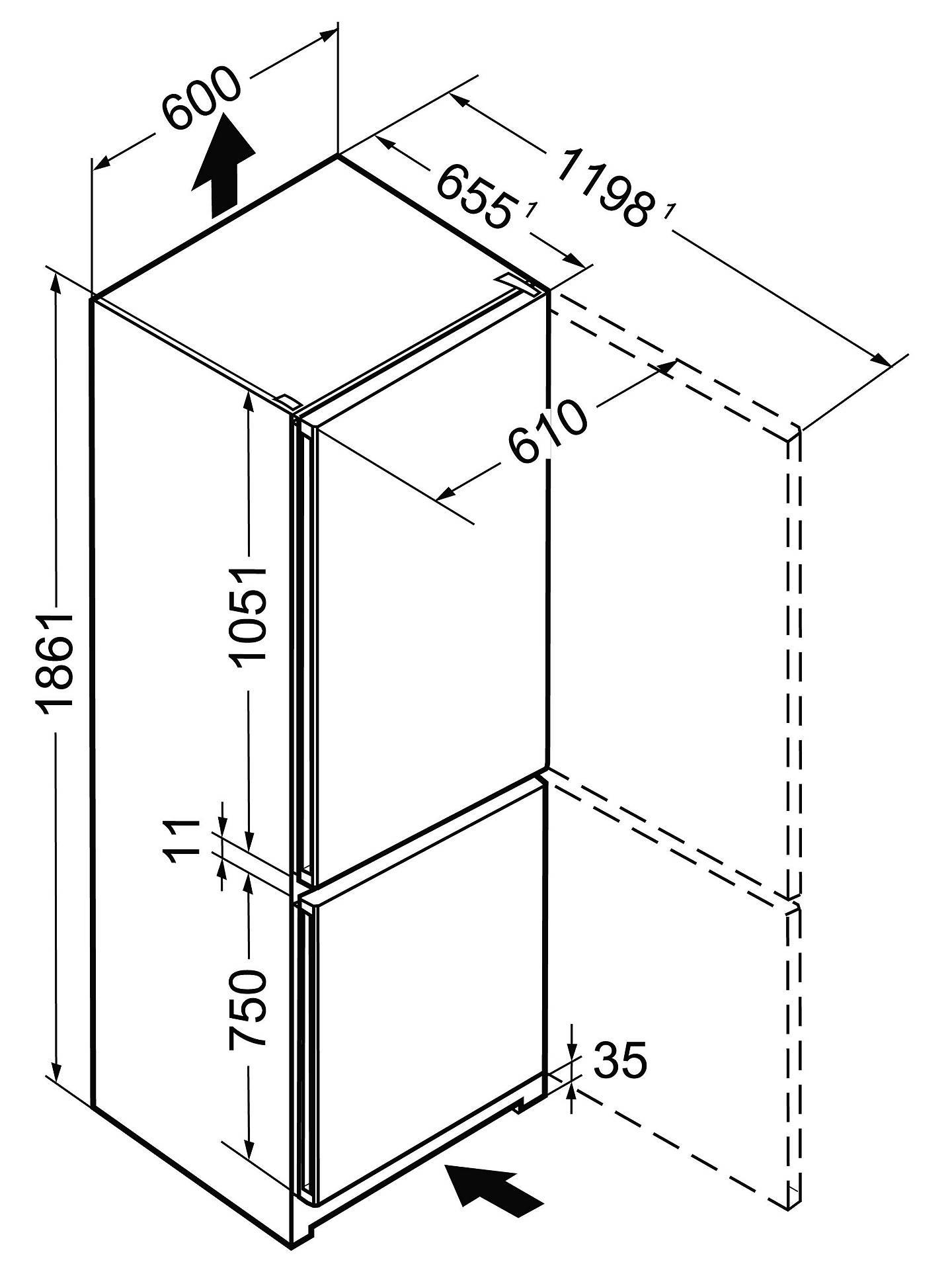 Liebherr CNP4313 Freestanding Fridge Freezer, A+++ Energy Rating, 60cm  Wide, White
