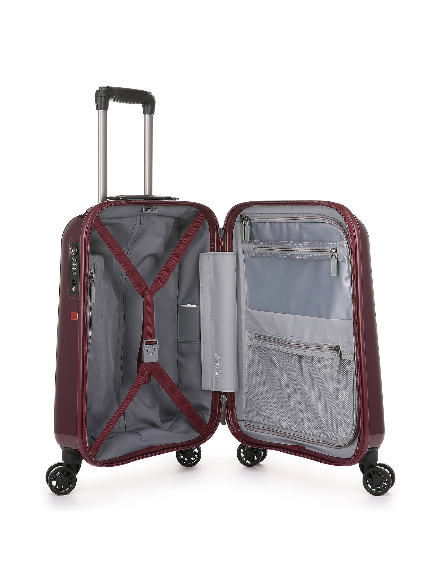 Buy Antler Global 55cm 4-Wheel Cabin Case, Burgundy Online at johnlewis.com