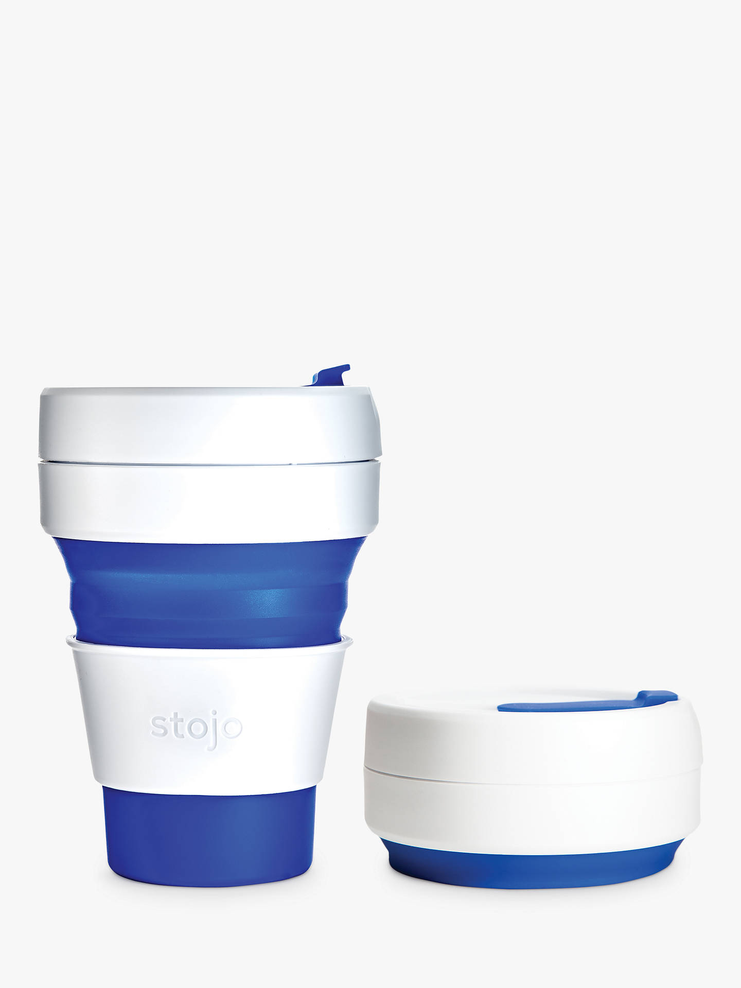BuyStojo Collapsible Reusable Pocket Cup, 355ml, Blue Online at johnlewis.com