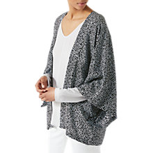 Buy Jigsaw Ditsy Leaf Silk Cape, Blossom Blue Online at johnlewis.com
