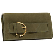 Buy Jigsaw Etta Buckle Leather Clutch Bag Online at johnlewis.com
