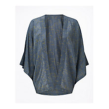 Buy Jigsaw Mini Eclipse Silk Cape, Gravel Online at johnlewis.com