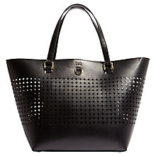 Buy Karen Millen Perforated Large Tote, Black Online at johnlewis.com