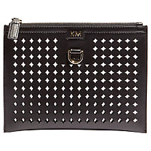 Buy Karen Millen Perforated Pouch, Black Online at johnlewis.com