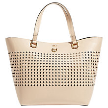 Buy Karen Millen Perforated Bucket Bag, Nude Online at johnlewis.com