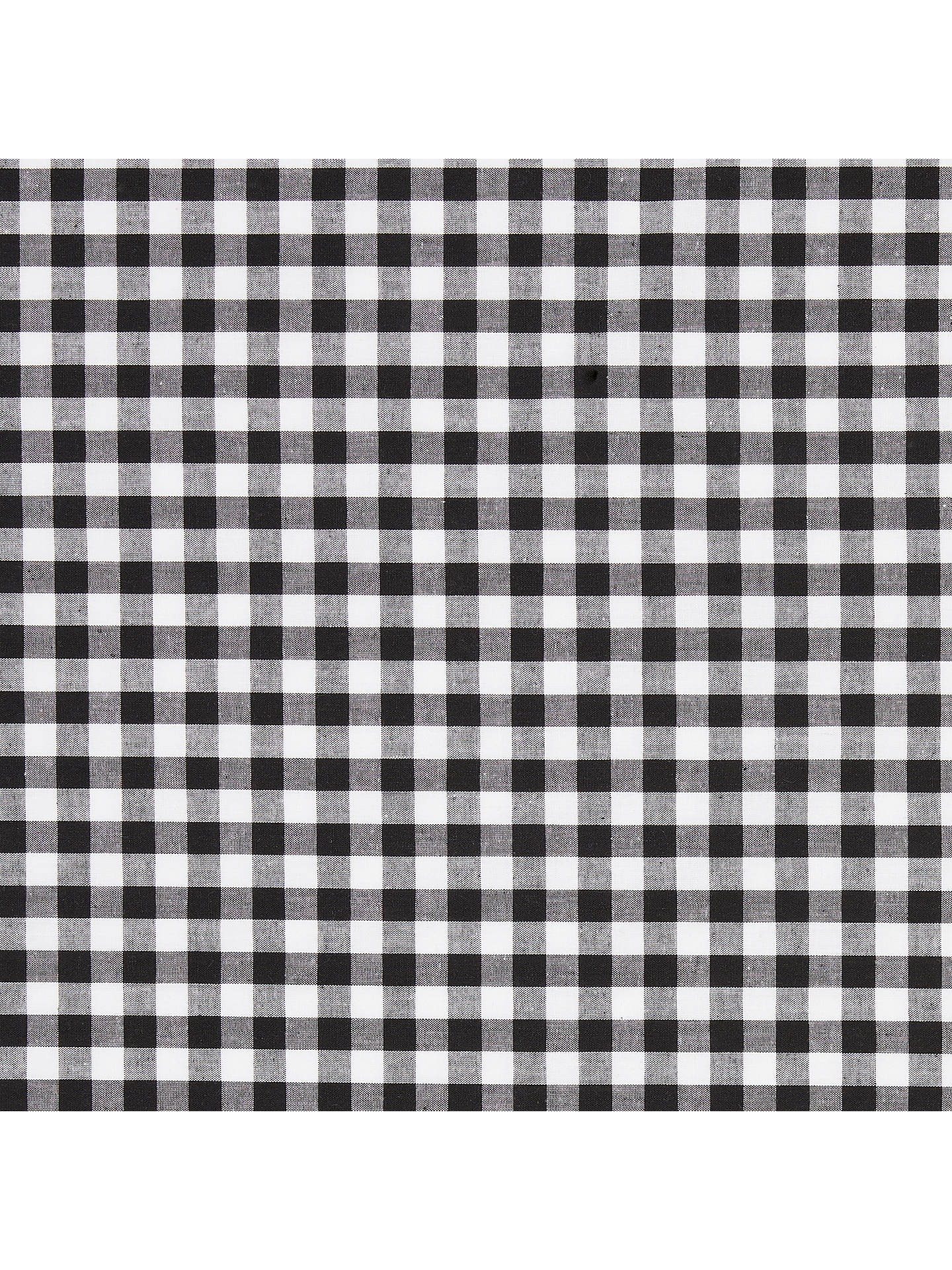 Buy John Louden Large Gingham Check Fabric, Black Online at johnlewis.com