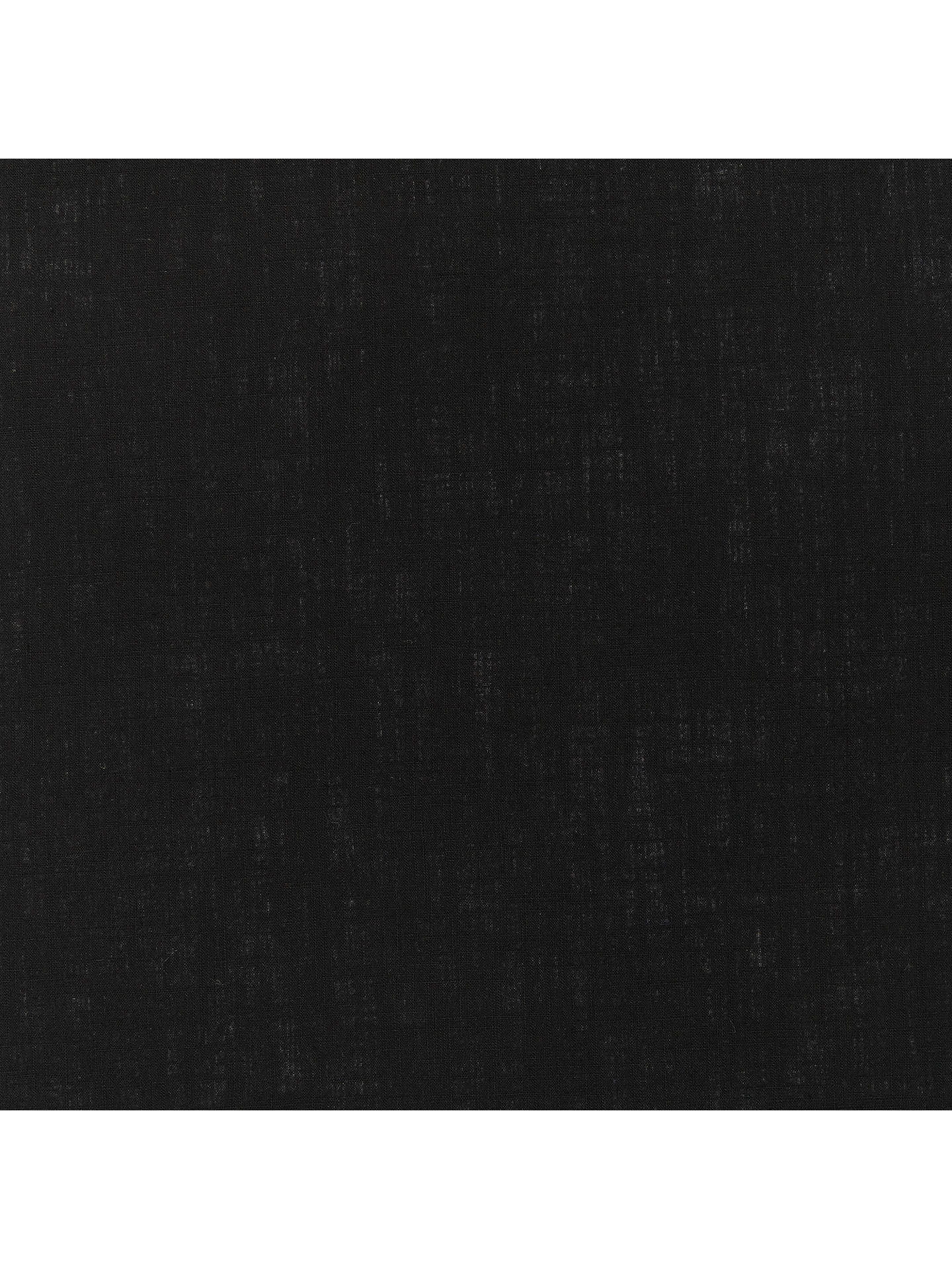 BuyOddies Textiles Linen Look Fabric, Black Online at johnlewis.com