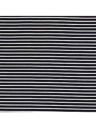 Oddies Textiles Jersey Stripe Fabric, Navy