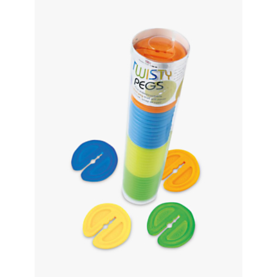 Eddingtons Twisty Pegs, Multi, Pack of 40