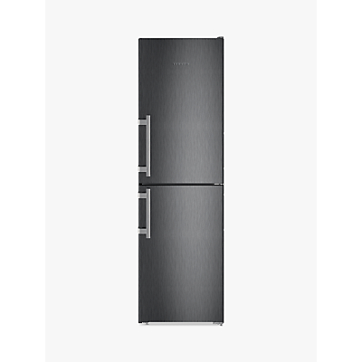 Liebherr CNBS3915 Freestanding Fridge Freezer, A++ Energy Rating, 60cm Wide, Black Steel