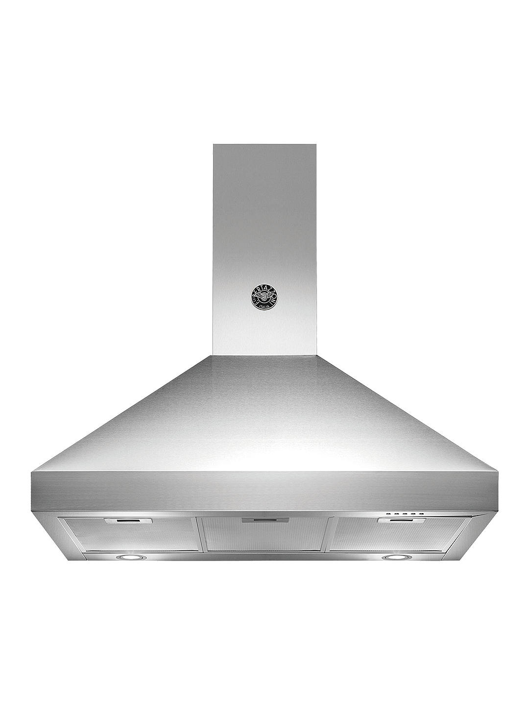 Buy Bertazzoni Master Series K90-AM-HX-A 90cm Chimney Cooker Hood, Stainless Steel Online at johnlewis.com