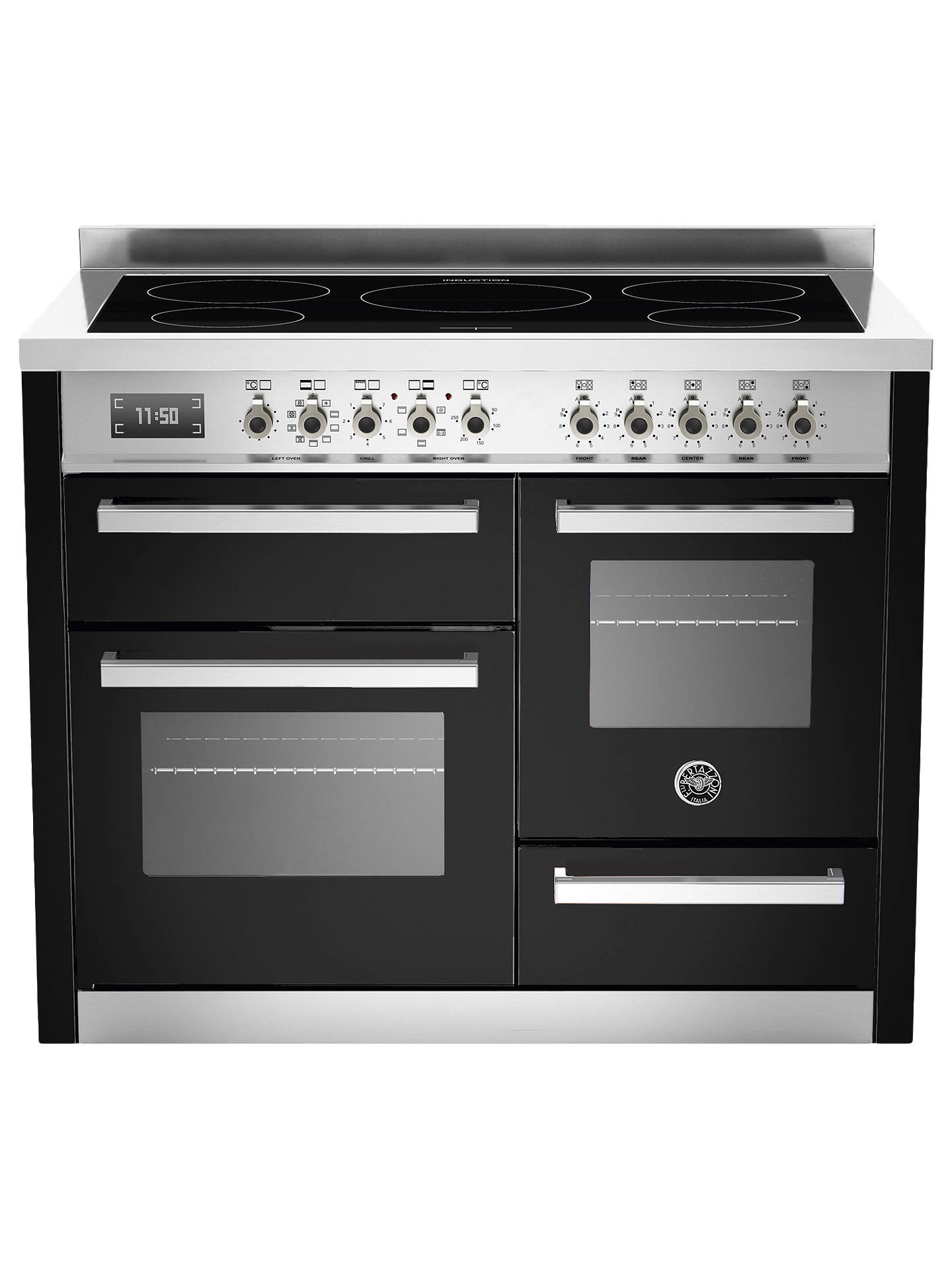 BuyBertazzoni Professional Series 110cm Induction Range Cooker, Black Online at johnlewis.com