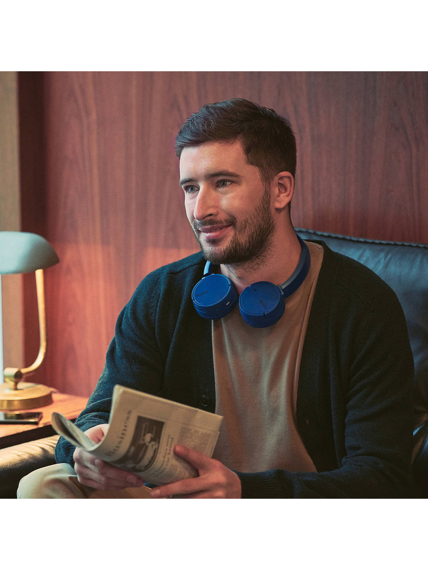 BuySony WH-CH500 Bluetooth NFC Wireless On-Ear Headphones with Mic/Remote, Blue Online at johnlewis.com