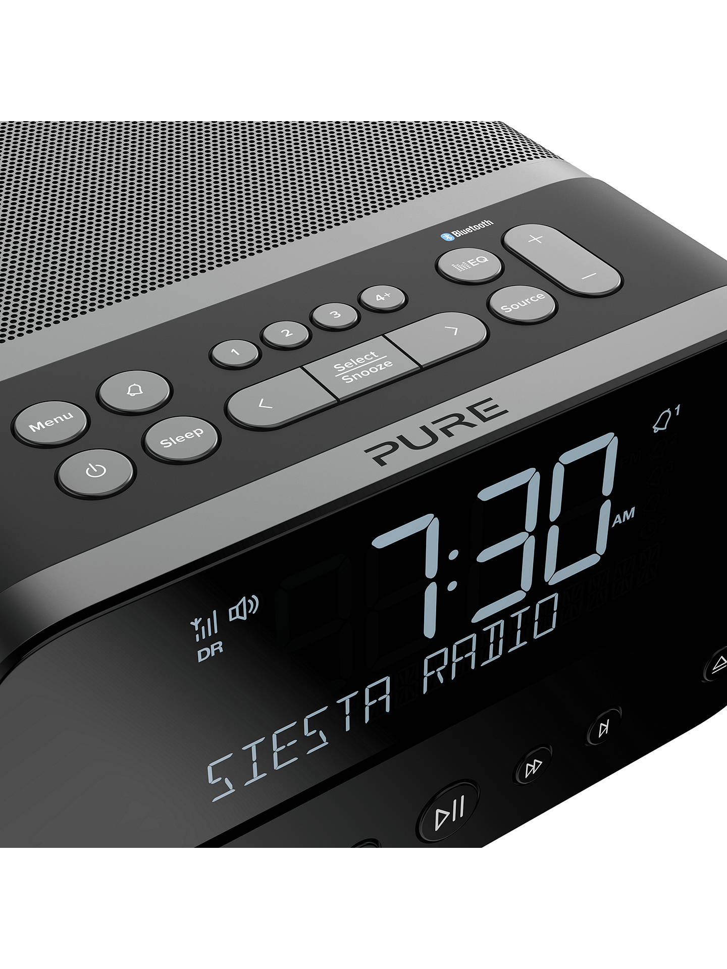 BuyPure Siesta Home DAB/DAB+/FM Bluetooth All-in-One Music System, Graphite Online at johnlewis.com