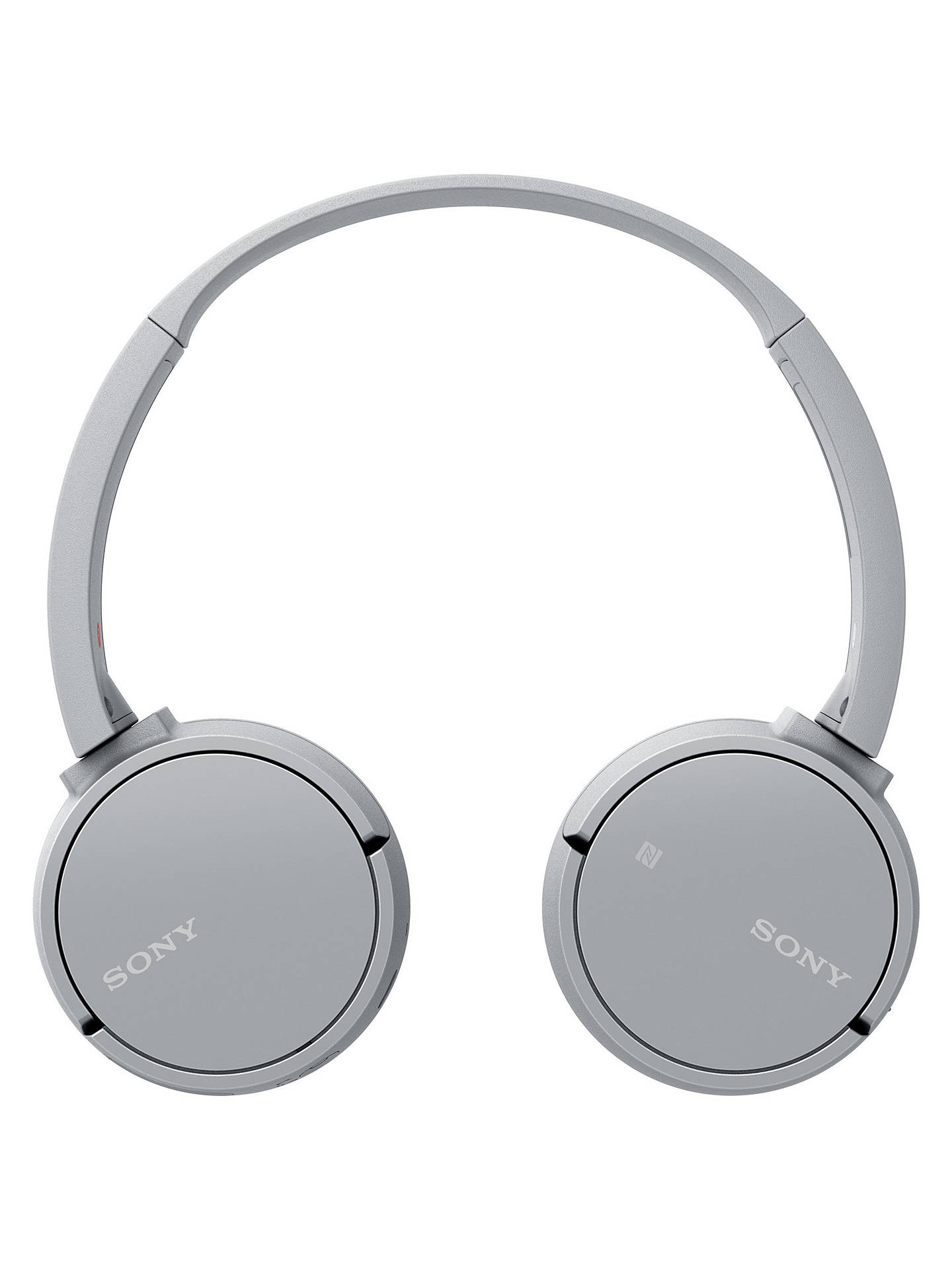 BuySony WH-CH500 Bluetooth NFC Wireless On-Ear Headphones with Mic/Remote, Grey Online at johnlewis.com