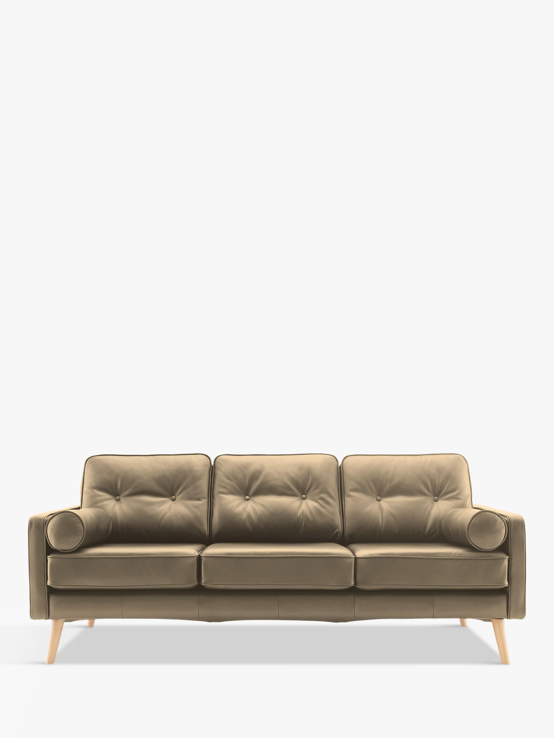 G Plan Vintage G Plan Vintage The Sixty Five Large 3 Seater Leather Sofa