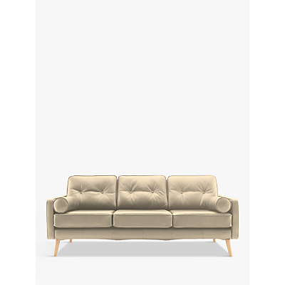 G Plan Vintage The Sixty Five Large 3 Seater Leather Sofa