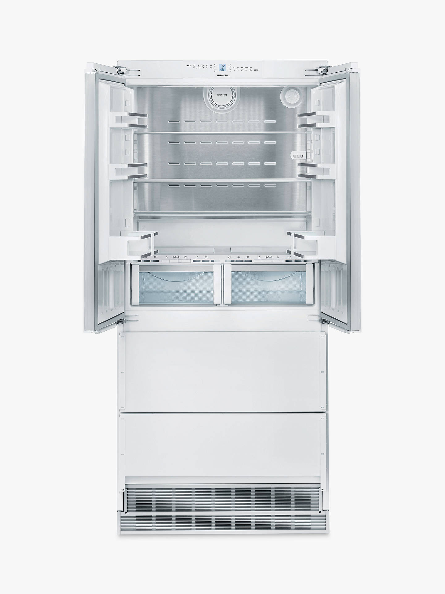 Buy Liebherr ECBN6256 Integrated American Style Fridge Freezer, 91cm Wide, A++ Energy Rating, White Online at johnlewis.com