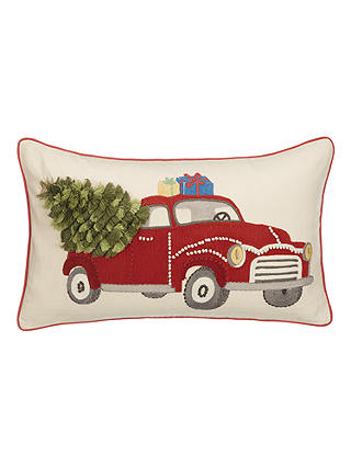 Buy John Lewis & Partners Driving Home for Christmas Cushion Online at johnlewis.com