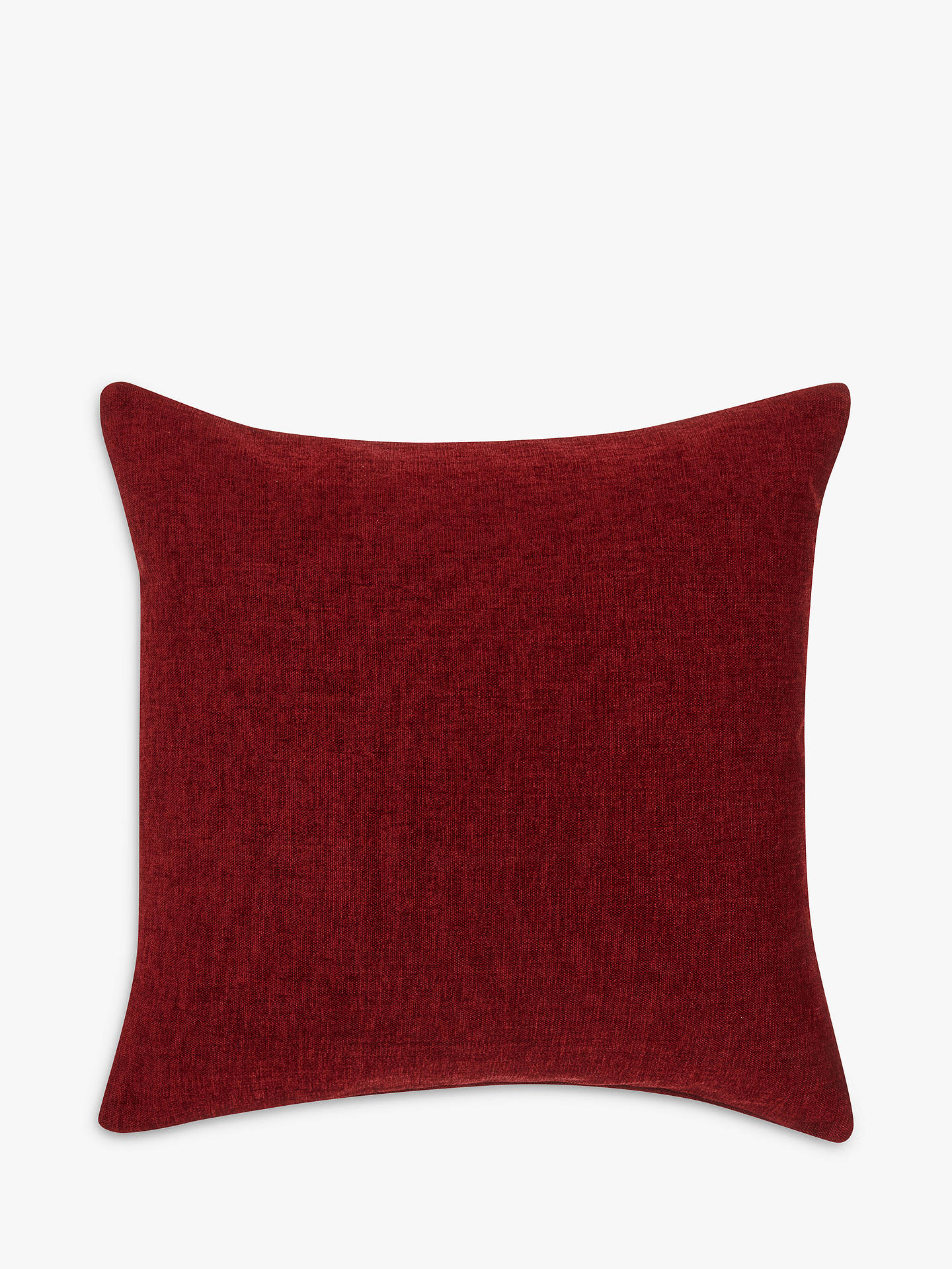 Buy John Lewis & Partners Chenille Cushion, Red Online at johnlewis.com