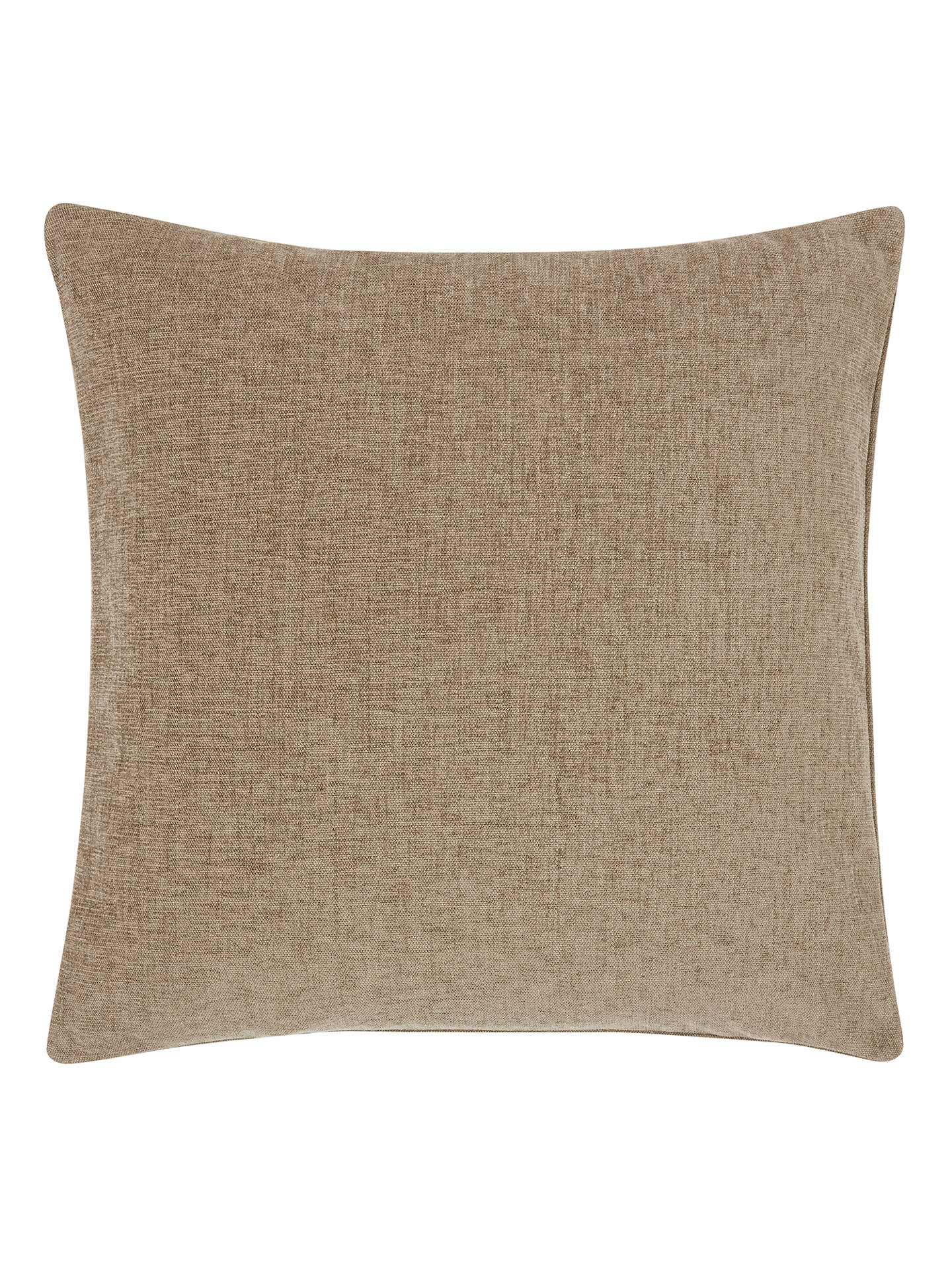 BuyJohn Lewis & Partners Chenille Cushion, Sable Online at johnlewis.com