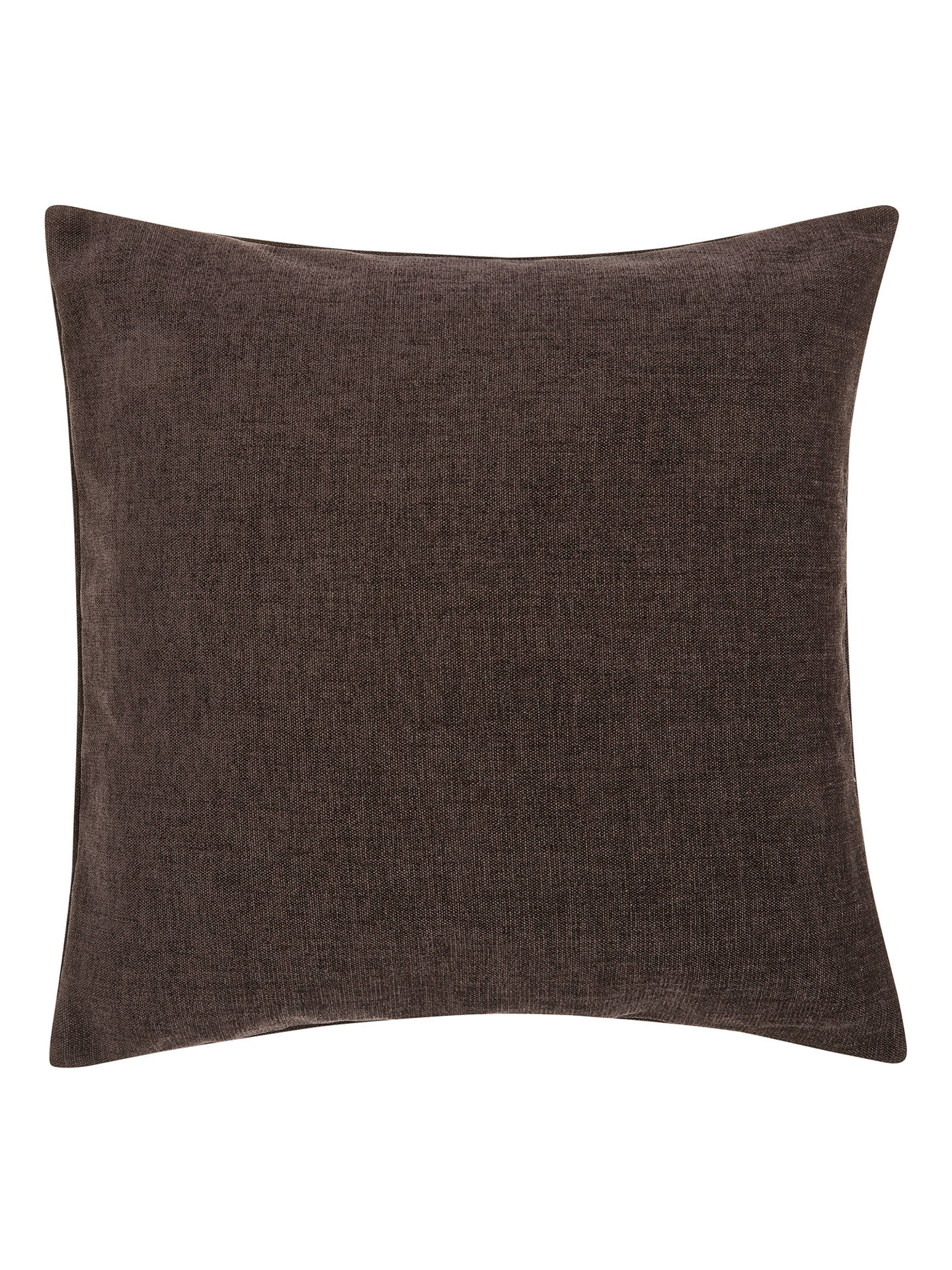 BuyJohn Lewis & Partners Chenille Cushion, Steel Online at johnlewis.com