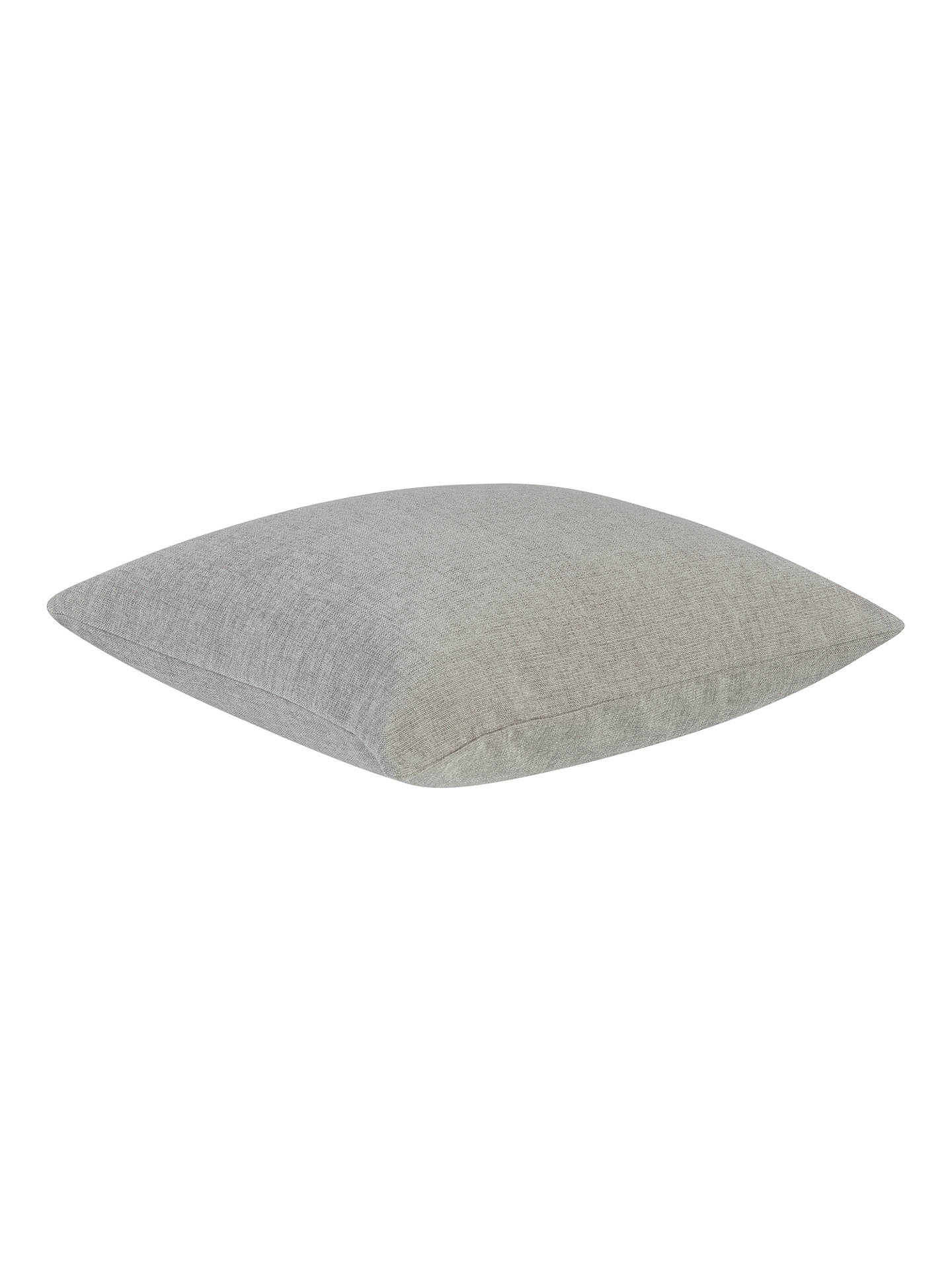 Buy John Lewis & Partners Chenille Cushion, Silver Online at johnlewis.com