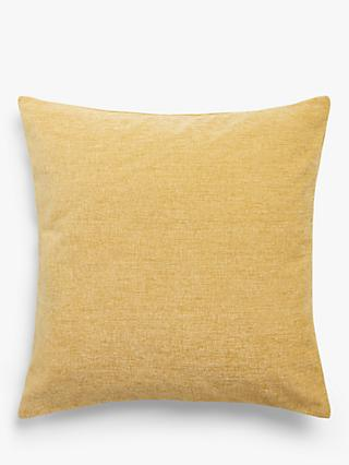 John Lewis & Partners Chenille Cushion, Gold