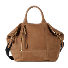 Buy Gerard Darel Only You Leather Grab Bag, Camel Online at johnlewis.com