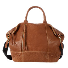 Buy Gerard Darel Only You Textured Leather Grab Bag, Beige Online at johnlewis.com