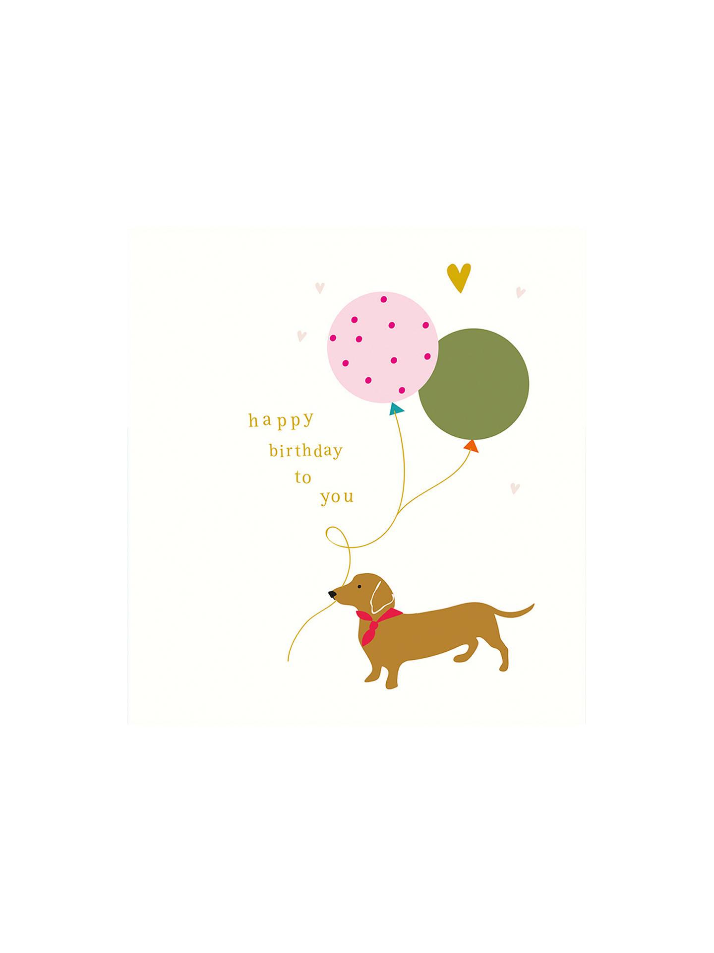 Caroline Gardner Sausage Dog Birthday Card At John Lewis Partners