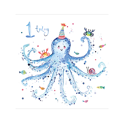Image of Louise Mulgrew Boy 1st Birthday Card