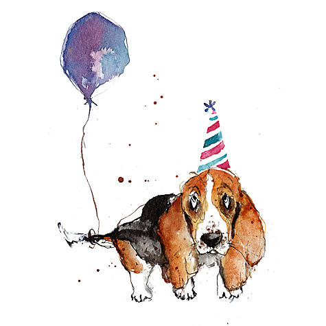 Buy louise mulgrew basset hound with balloon birthday card john buy louise mulgrew basset hound with balloon birthday card online at johnlewis bookmarktalkfo Gallery