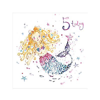 Image of Louise Mulgrew Girl 5th Birthday Card
