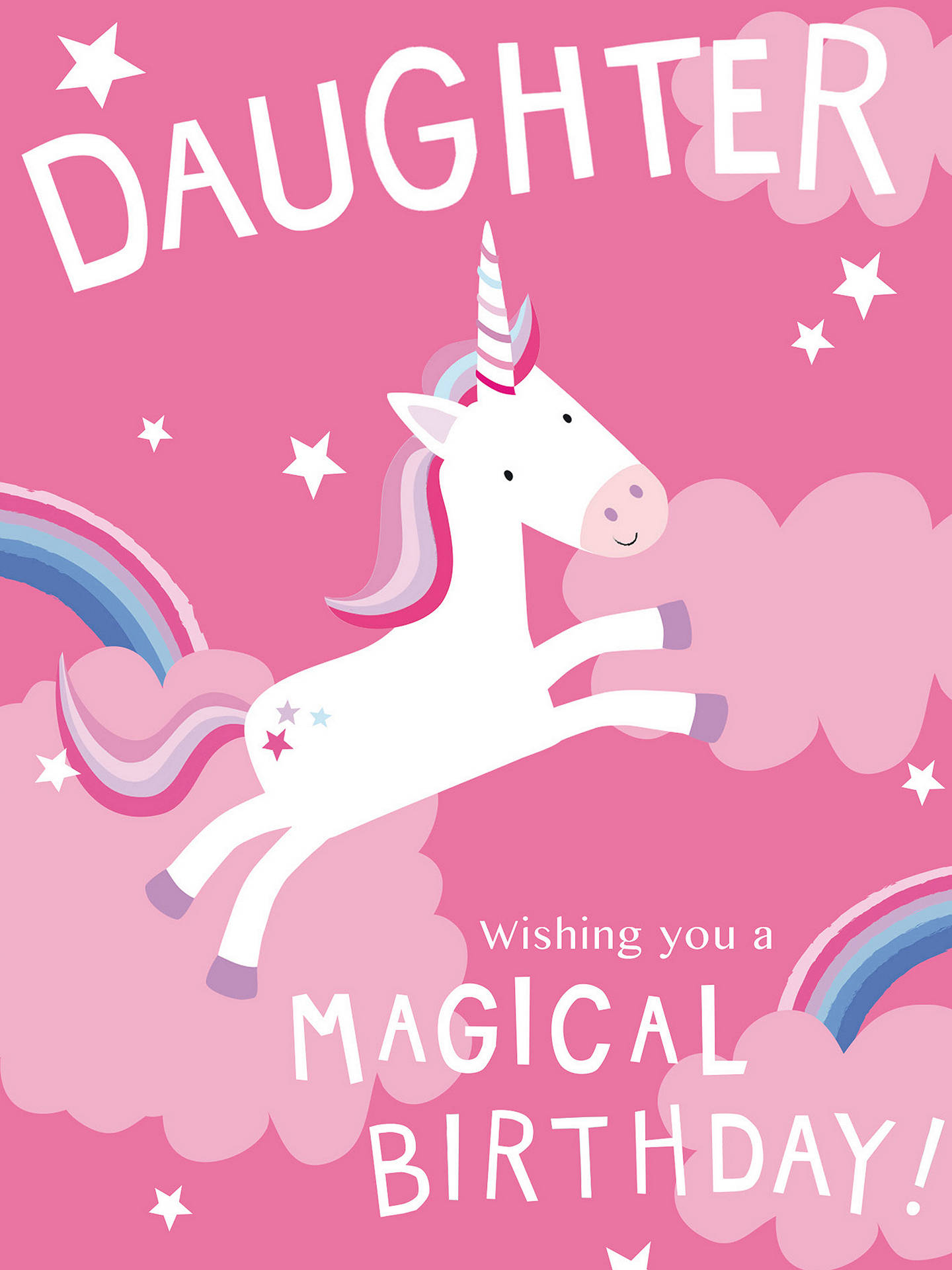 Buy Cardmix Magical Daughter Birthday Card Online At Johnlewis