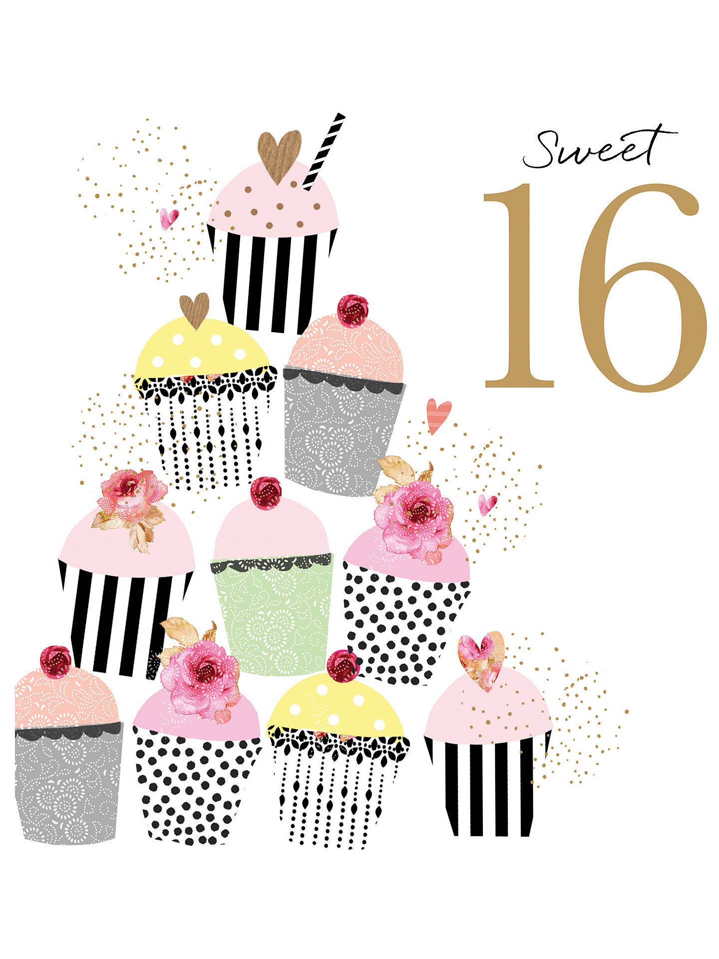 Buy Portfolio Sweet 16 Birthday Card Online At Johnlewis