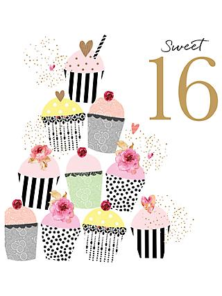 Portfolio Sweet 16 Birthday Card