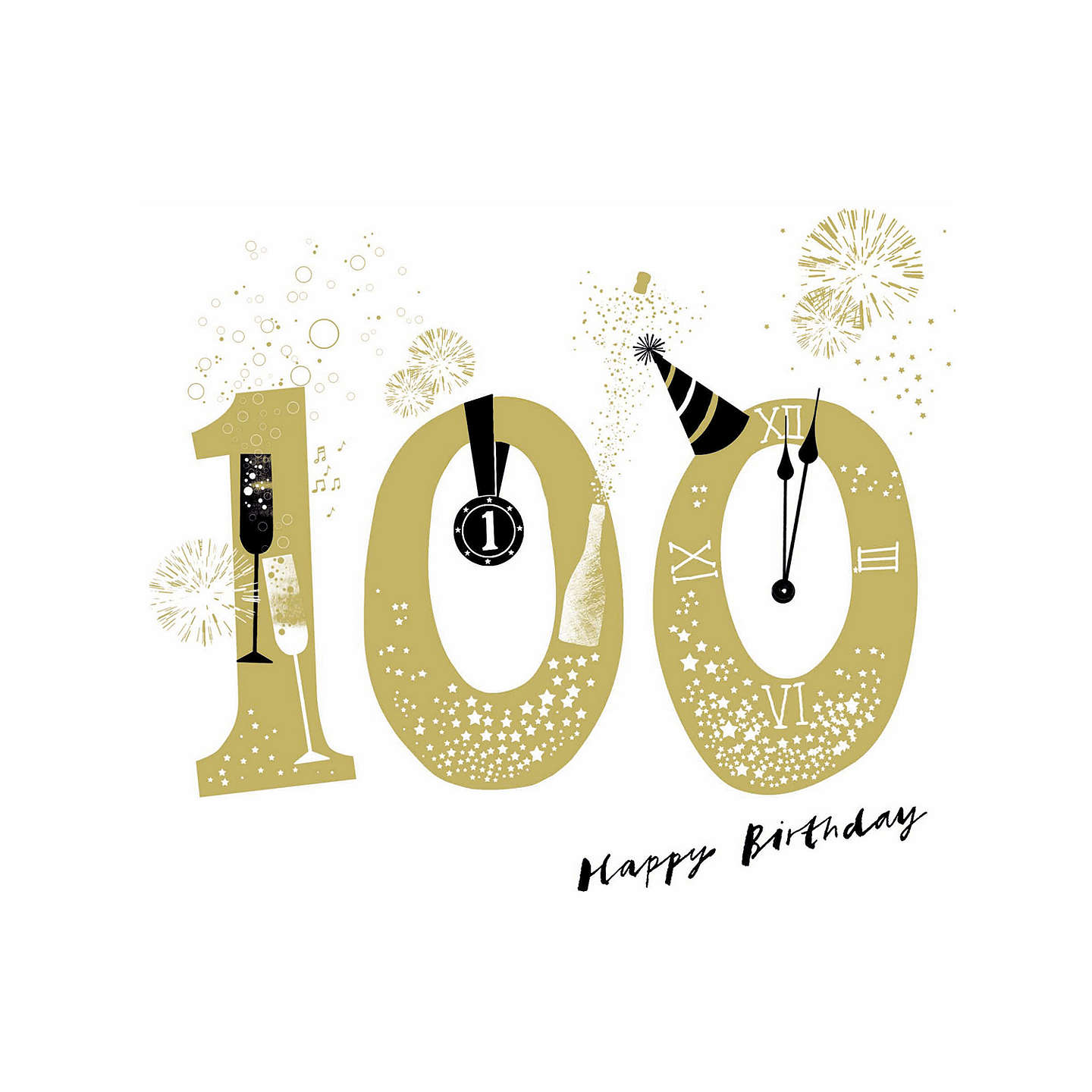 Woodmansterne big bang 100th birthday card at john lewis buywoodmansterne big bang 100th birthday card online at johnlewis bookmarktalkfo Images
