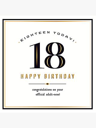 Pigment 18th Birthday Card