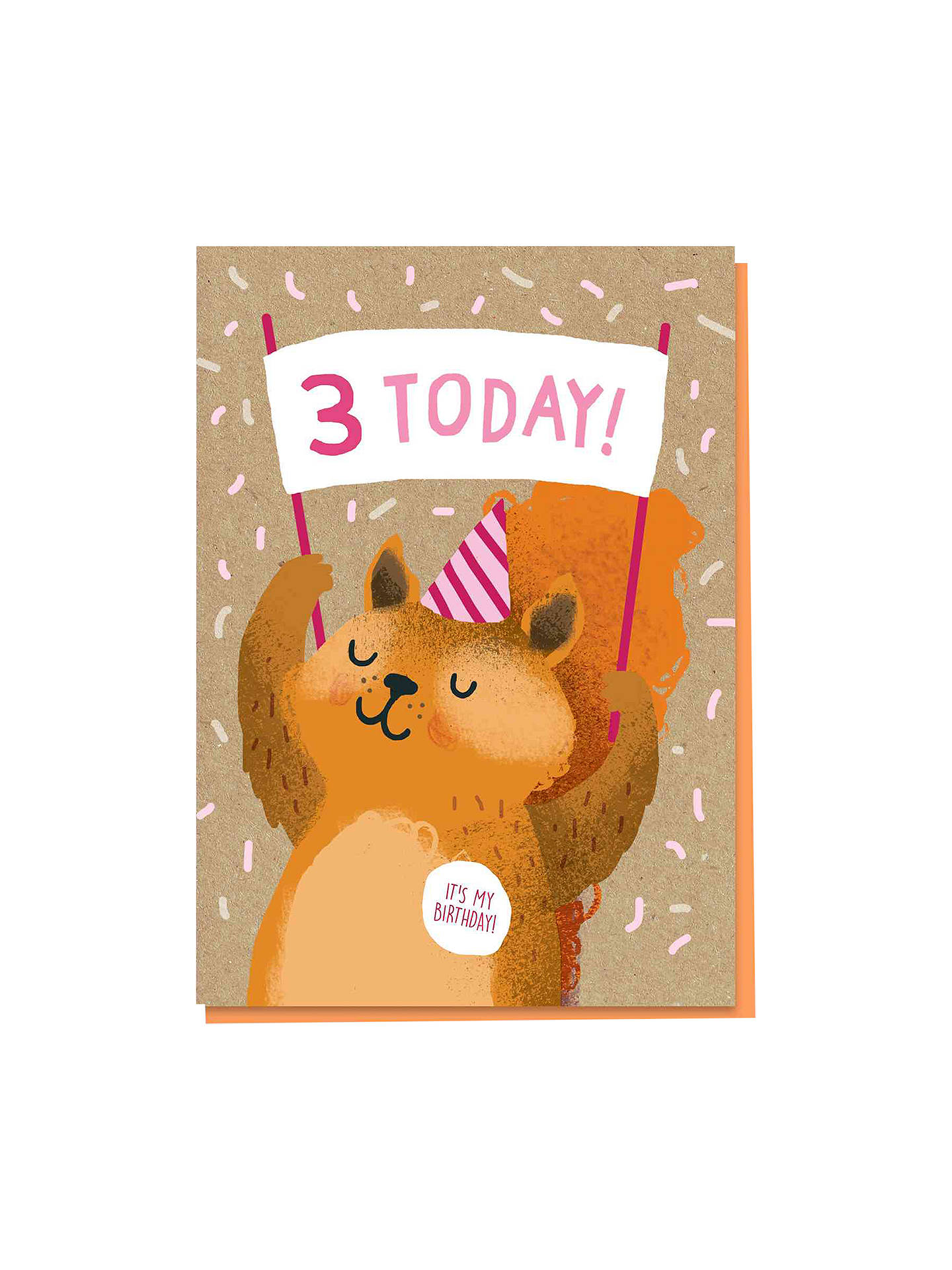 BuyStormy Knight Squirrel 3rd Birthday Card Online At Johnlewis