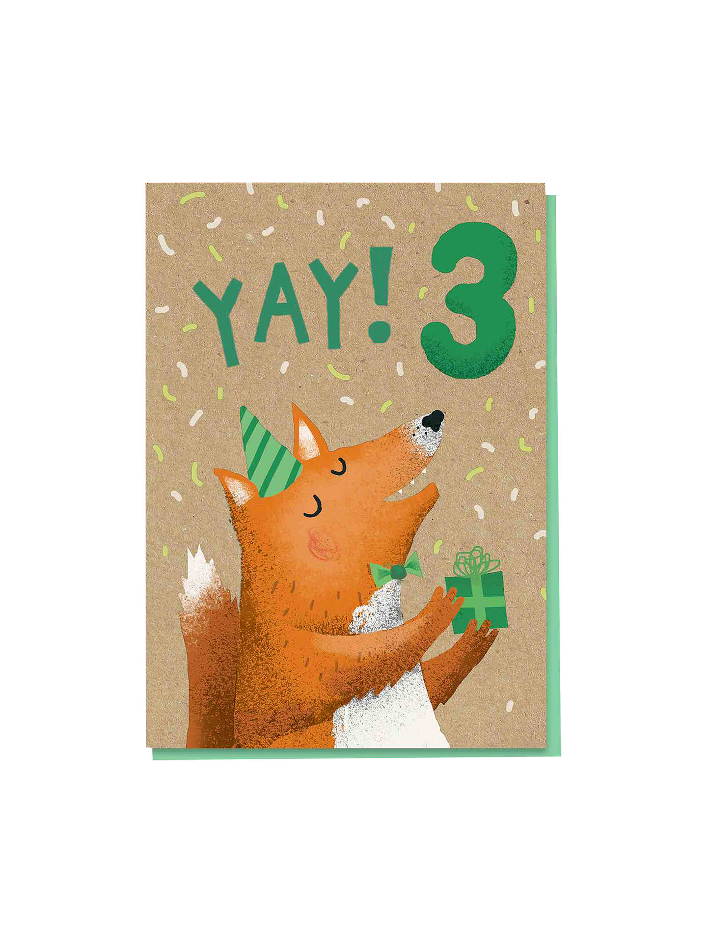 BuyStormy Knight Fox 3rd Birthday Card Online At Johnlewis