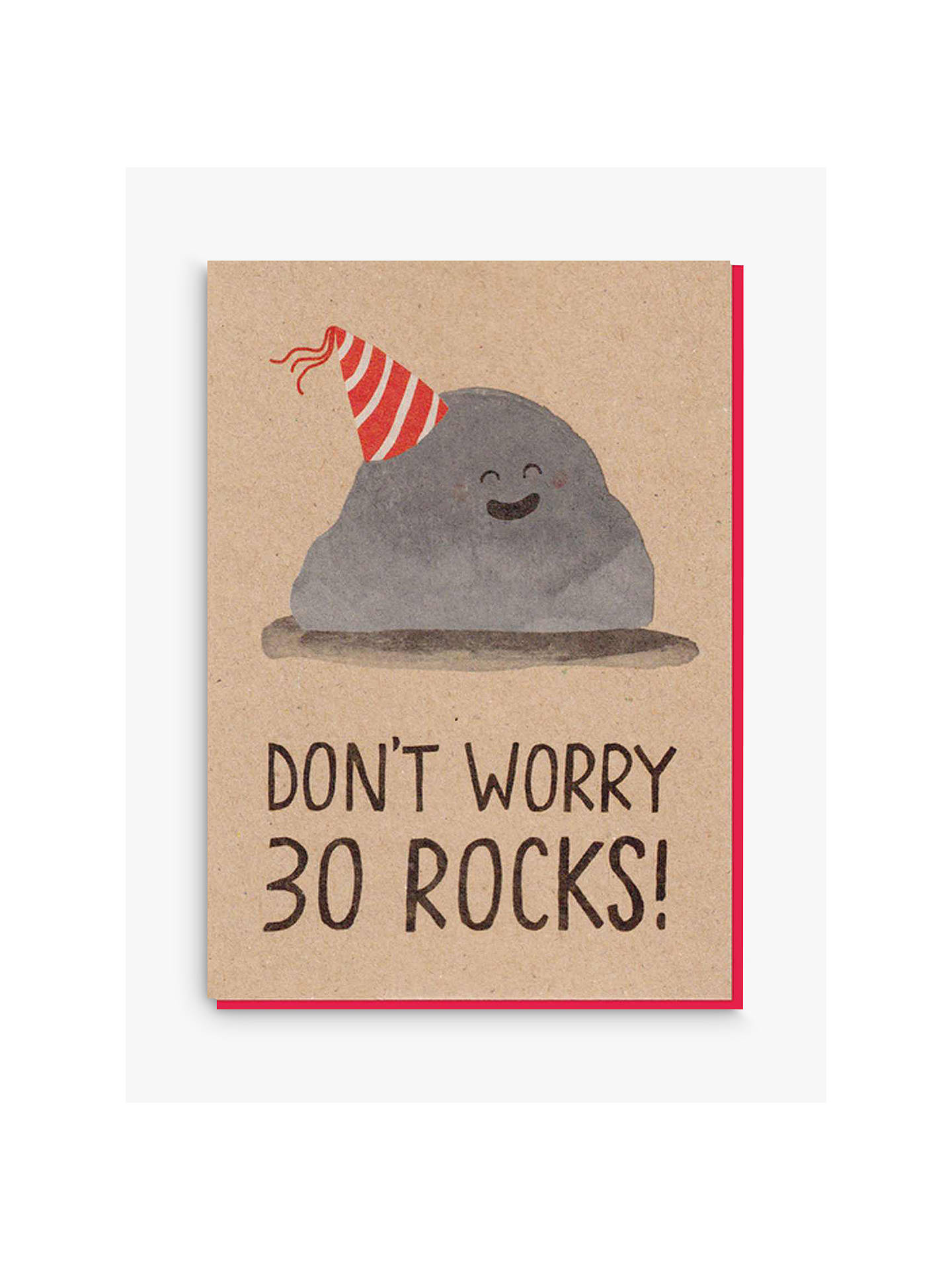 Buy Stormy Knight 30 Rocks Birthday Card Online At Johnlewis